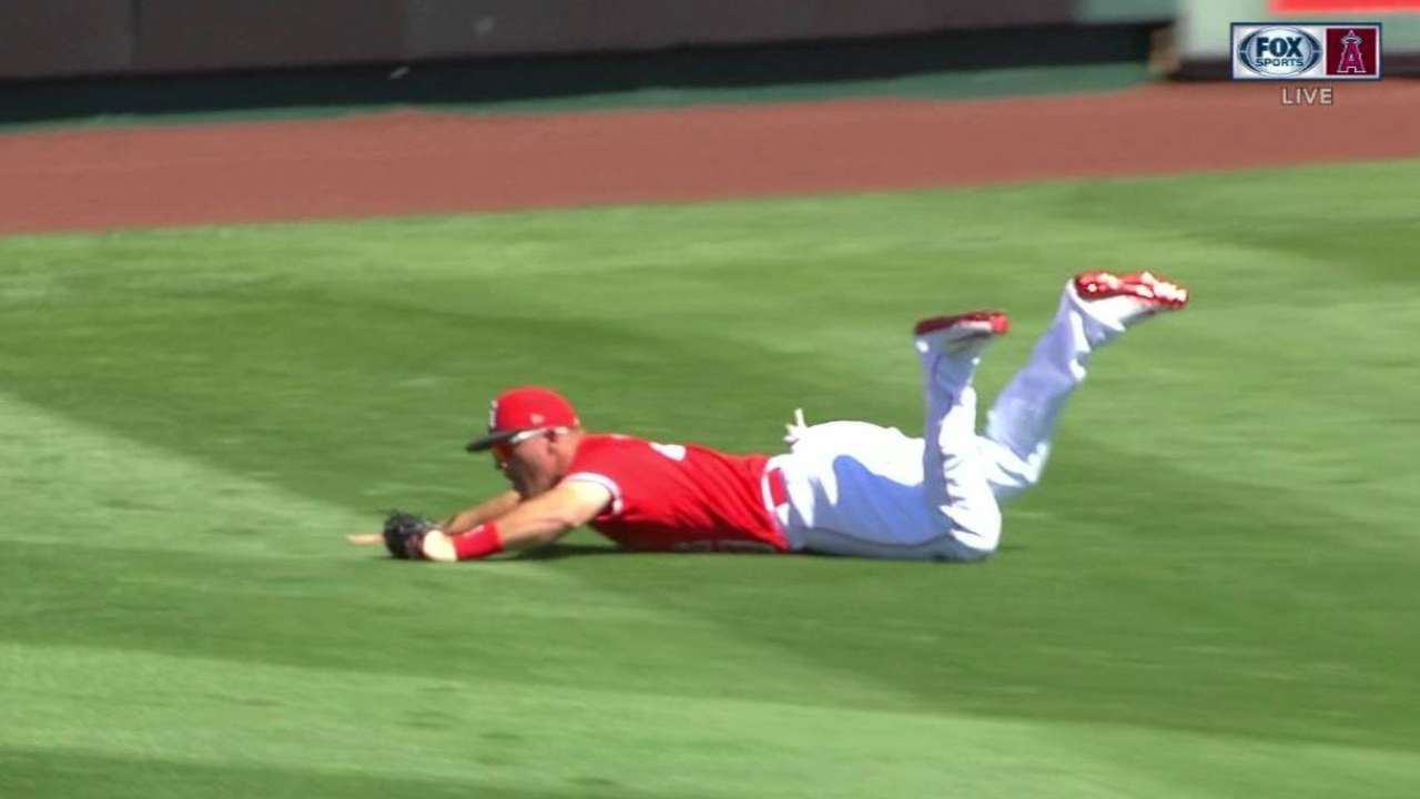 Trout's terrific catch