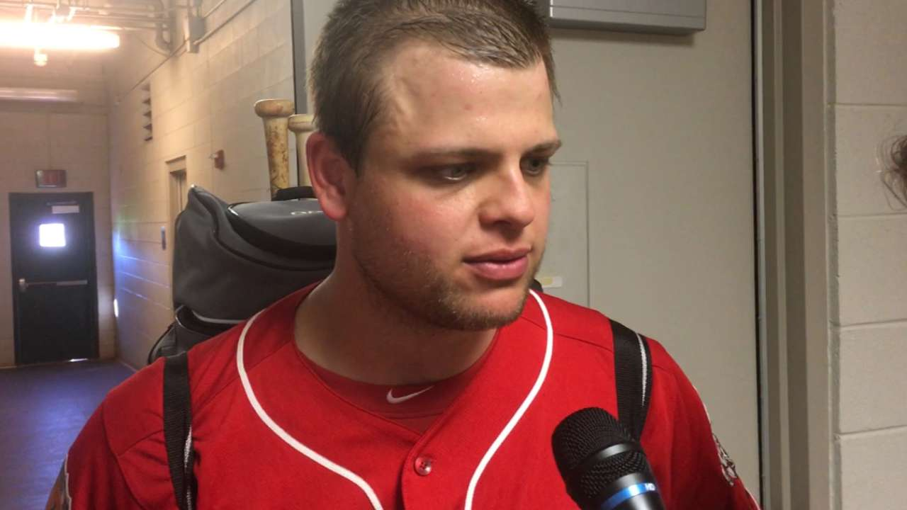On comeback trail, Mesoraco plays first game