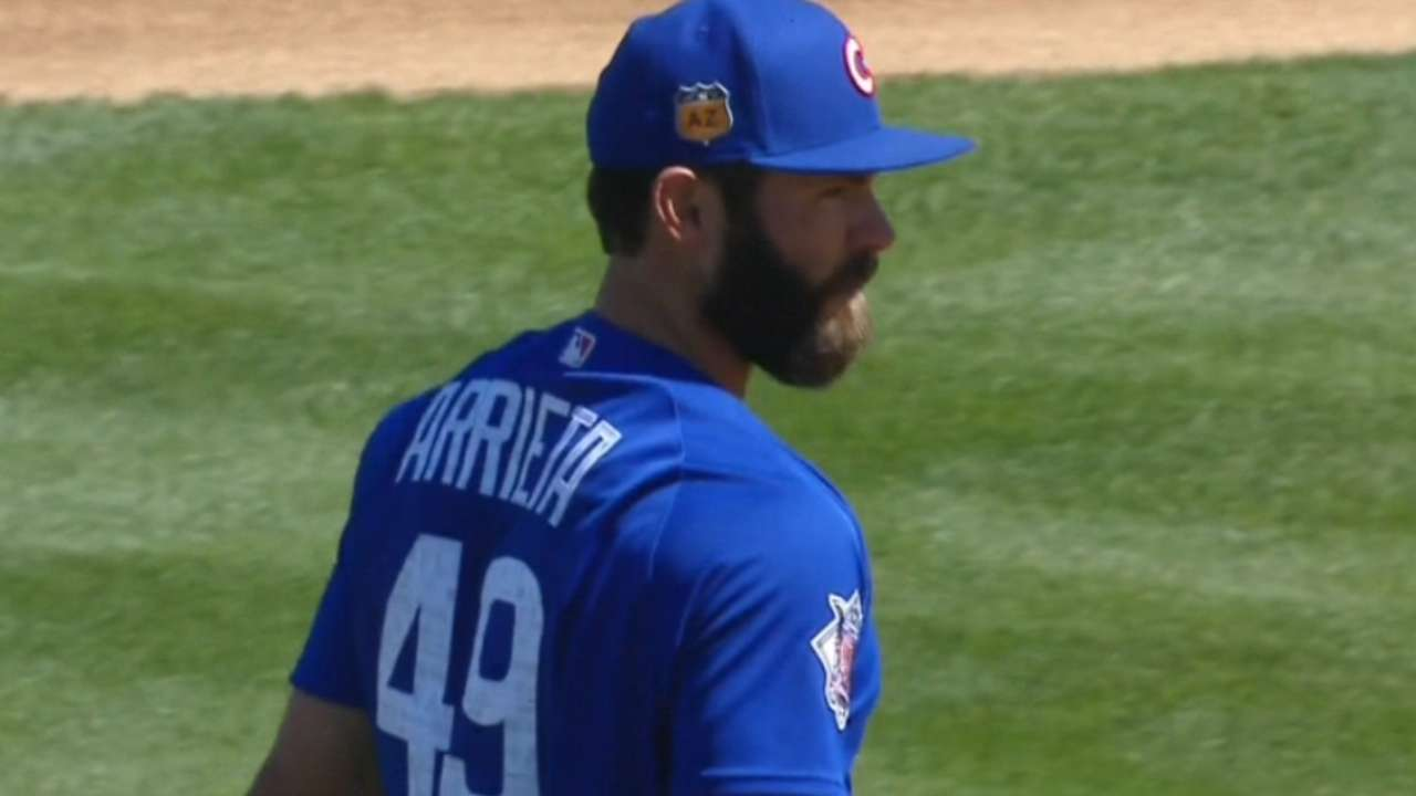Arrieta on his outing