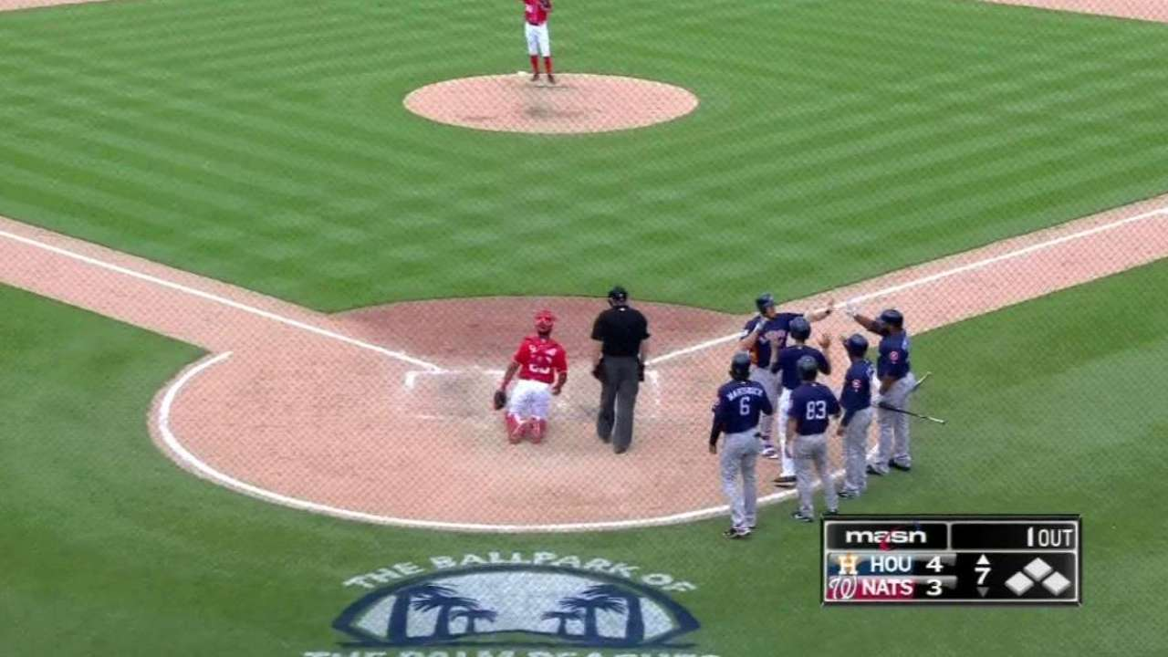 Reed's slam not enough for Astros vs. Nats