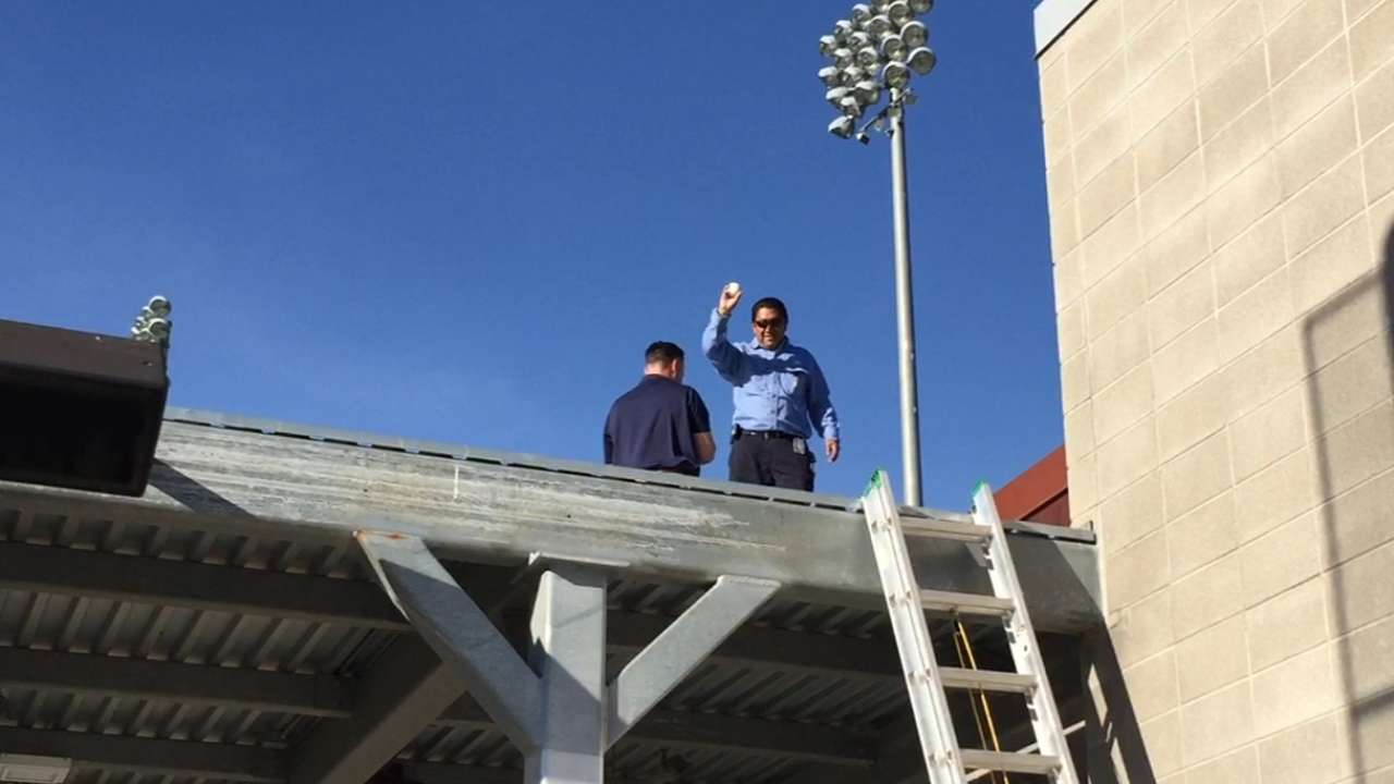 Brewers enlist help to retrieve Erceg's HR ball