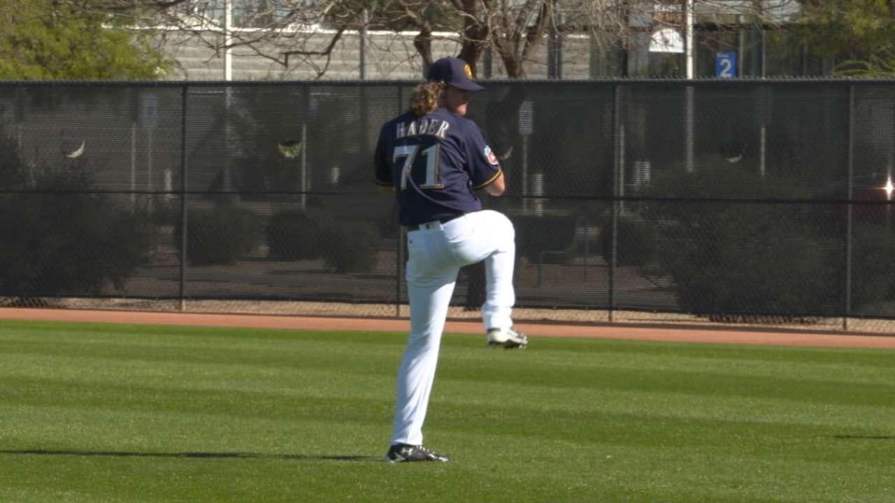 Hader among 8 sent to Minor League camp
