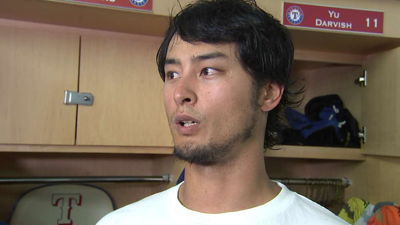 Darvish on his pitch count