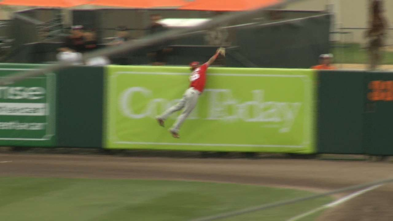 Williams' leaping catch