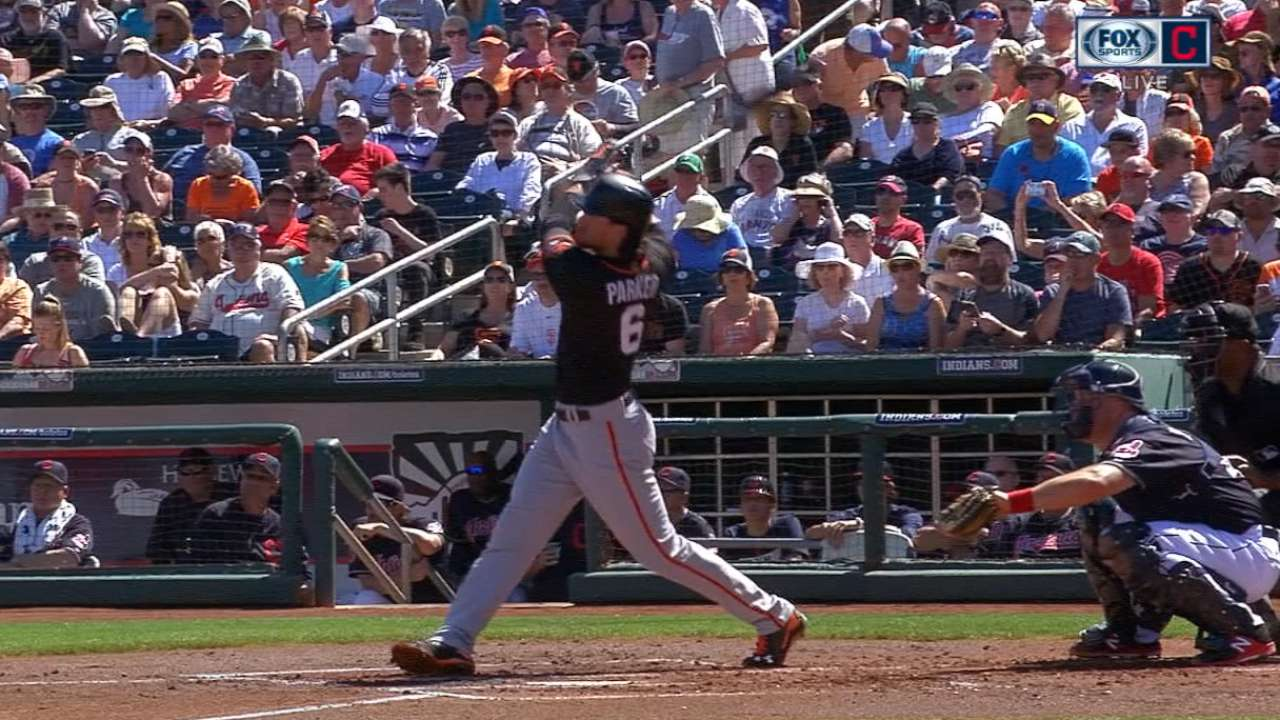 Parker homers as Giants get to Tomlin early