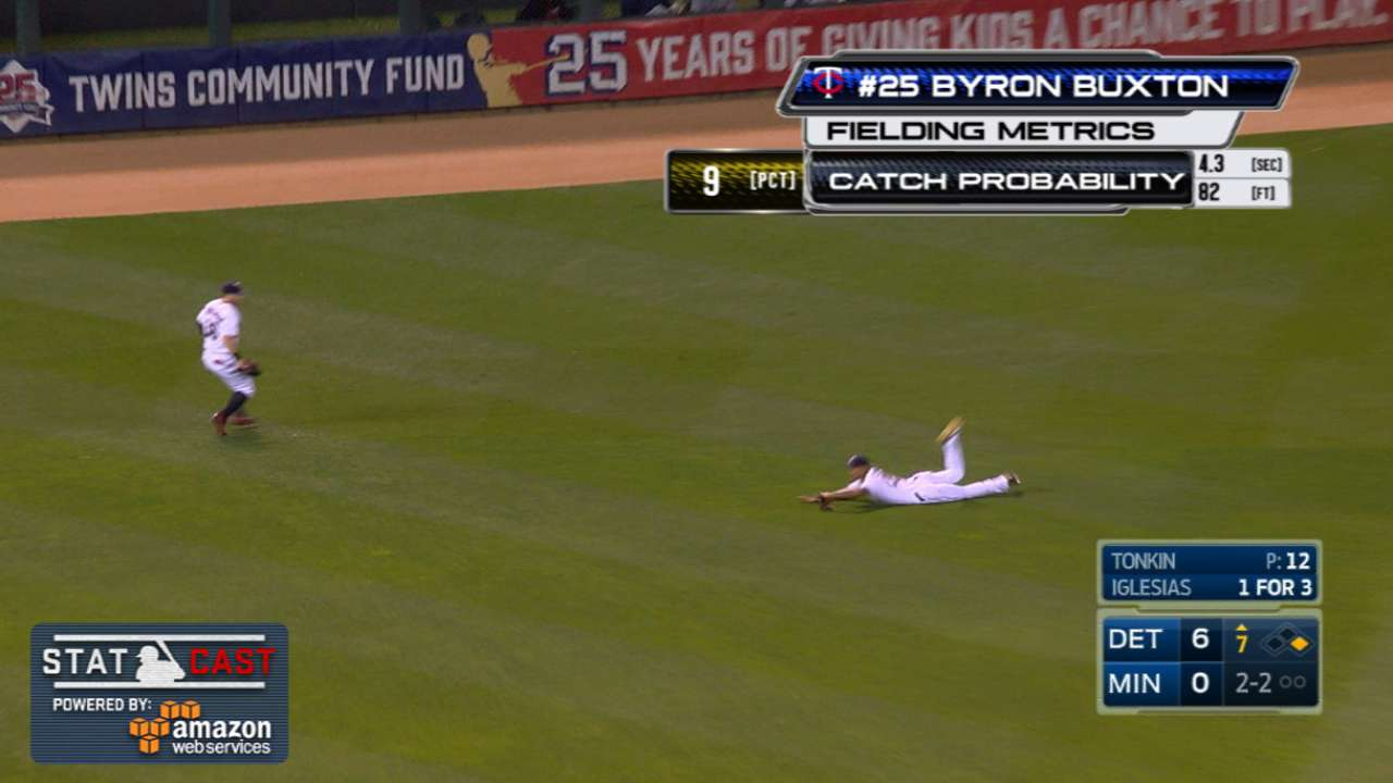 Statcast: Buxton's diving grab