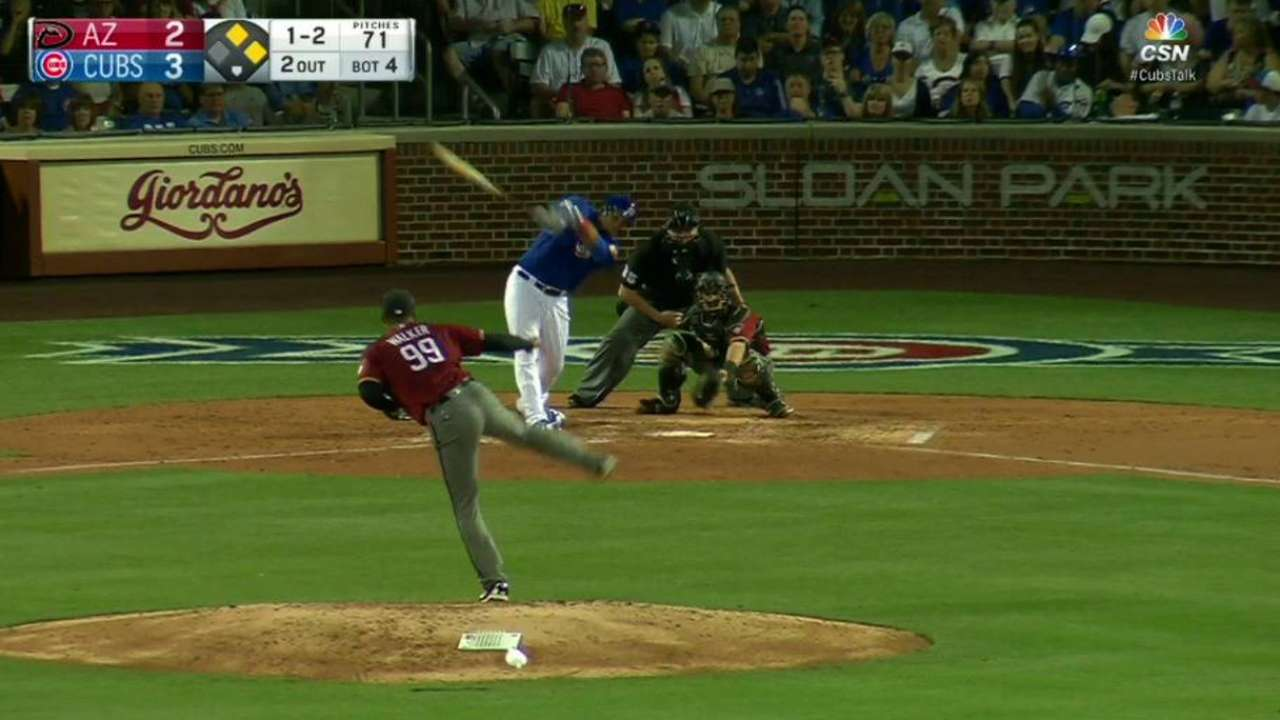 Walker strikes out 8 Cubs over 4 innings