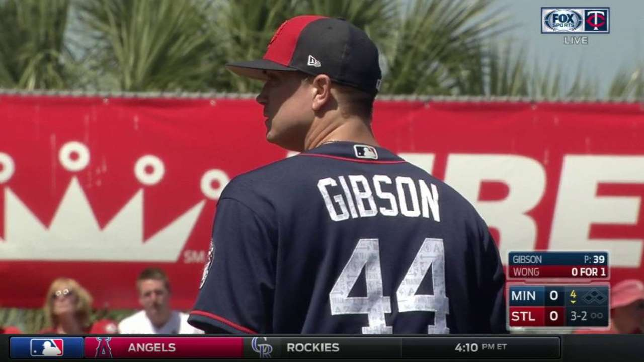 Gibson getting into groove on mound