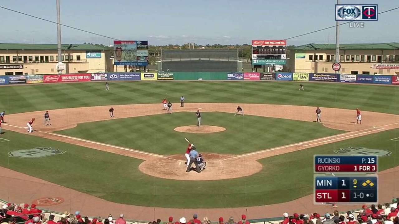 Twins use 5-man infield in 9th