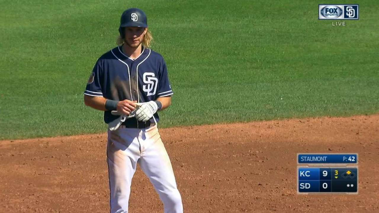 Jankowski keeps up hot spring for Padres