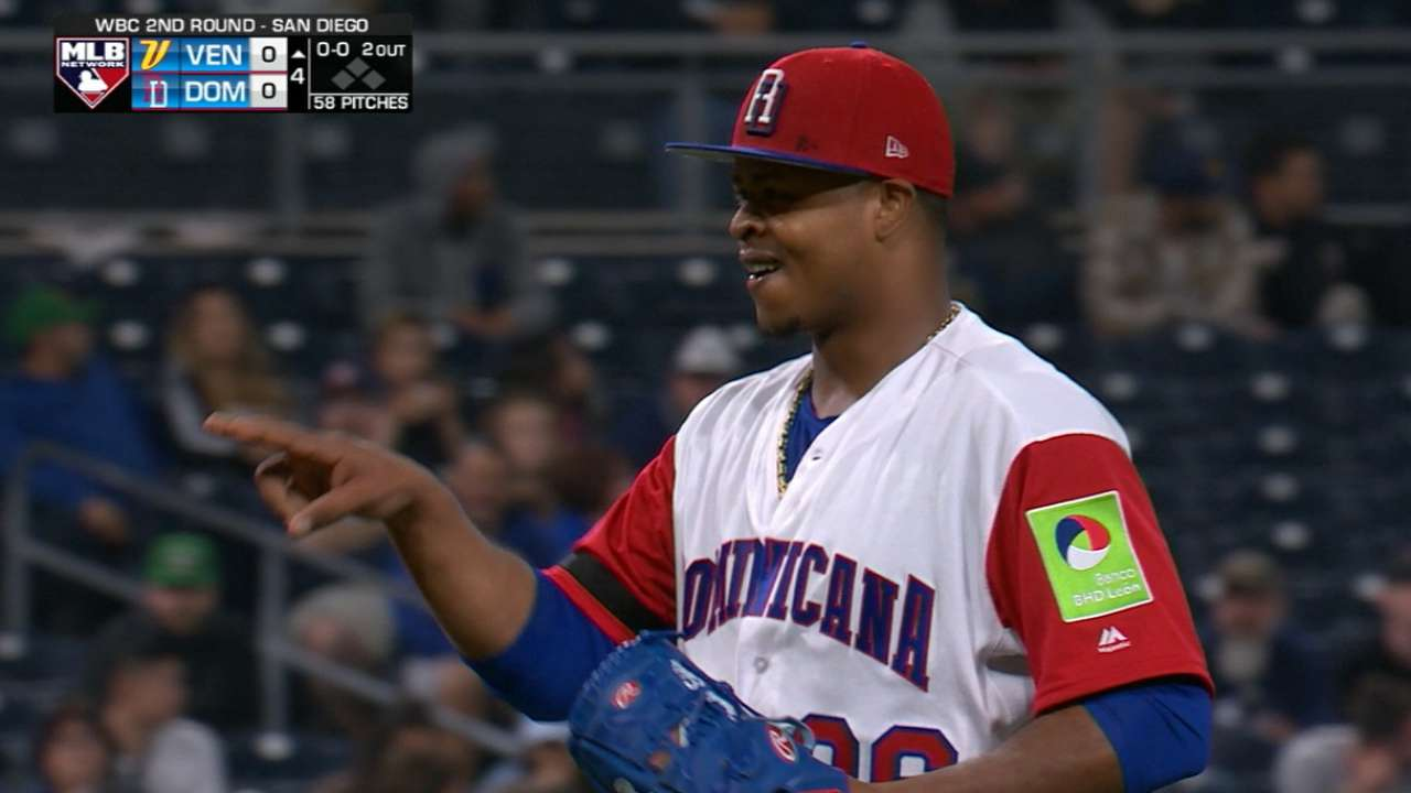 Volquez strikes out six
