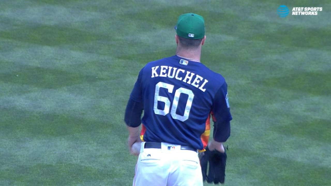 Keuchel's scoreless start