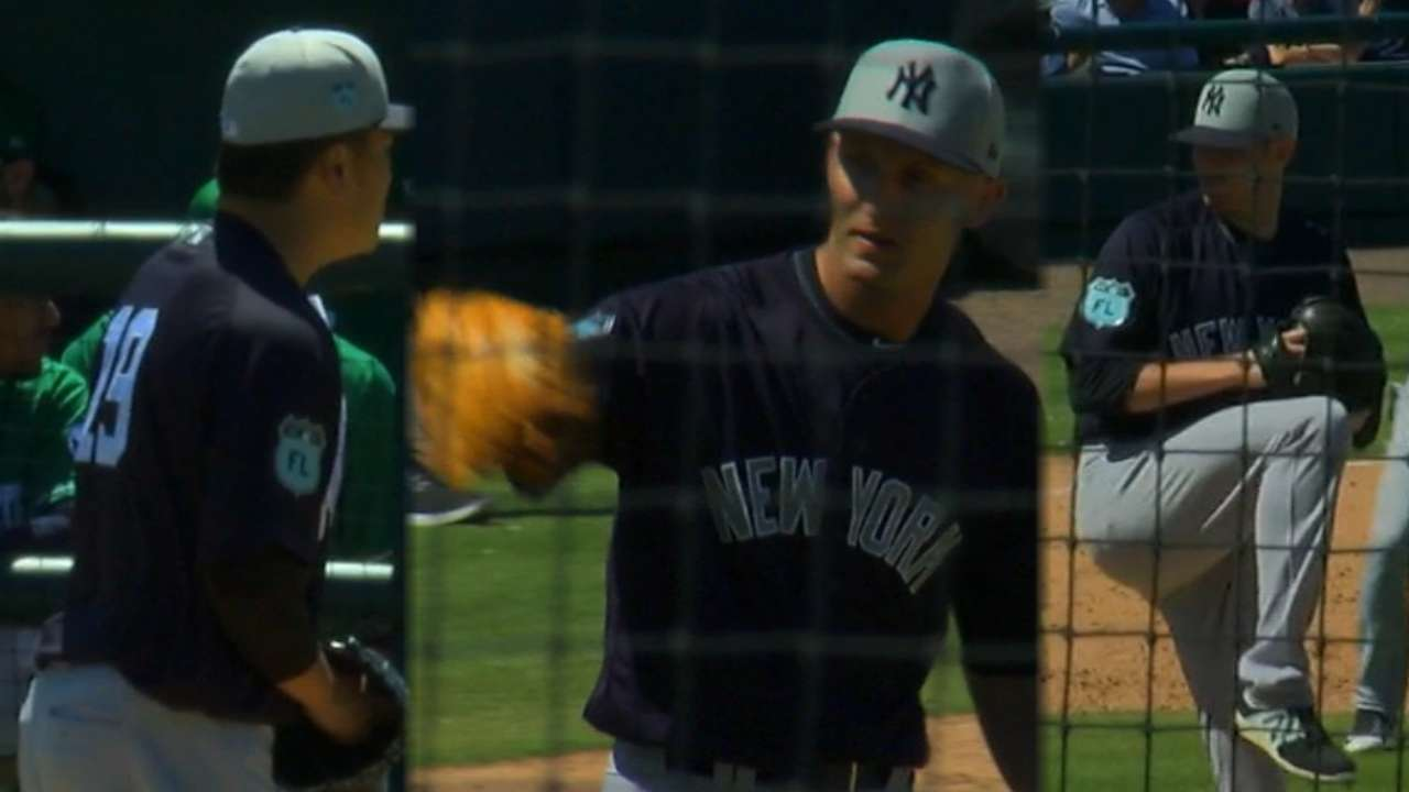 Yankees toss combined no-no
