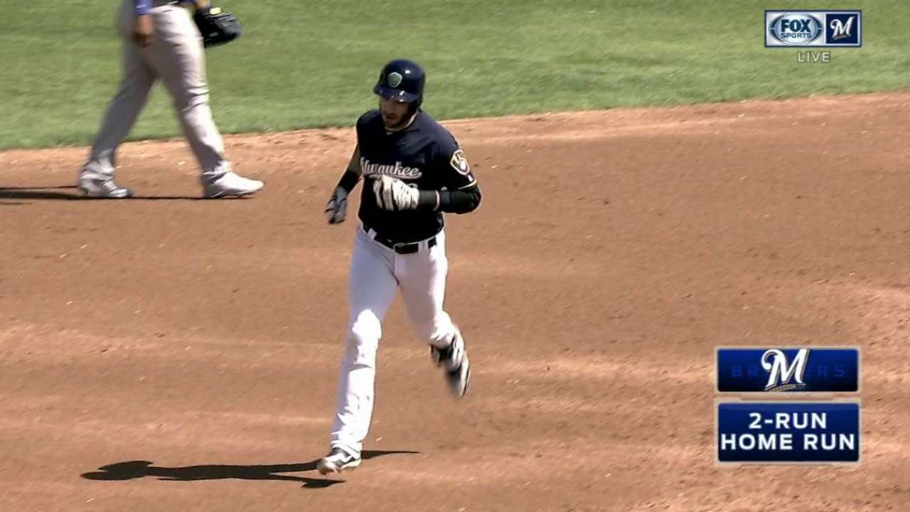 Braun, Pina go yard, Nelson strikes out 6