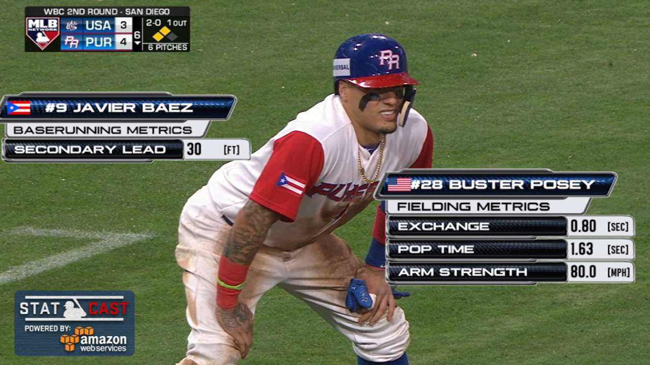 Statcast: Baez's steals set up key runs for Puerto Rico