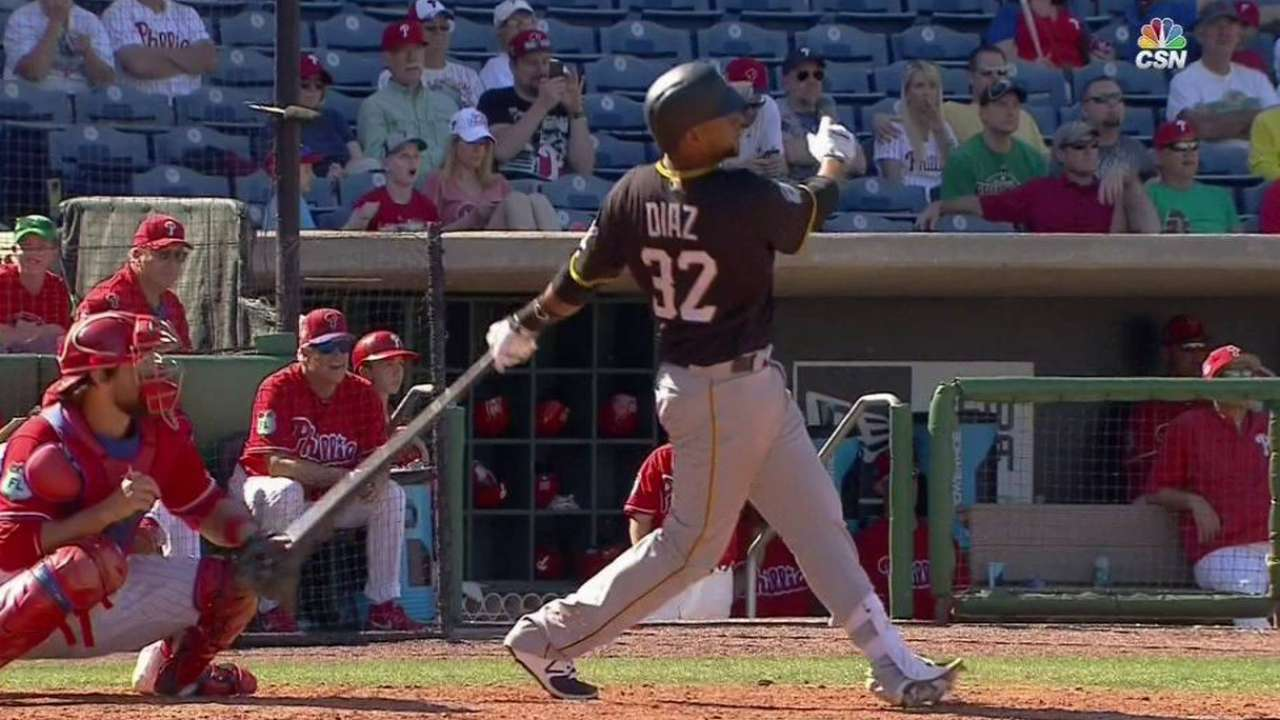 Pirates call up catcher Diaz from Triple-A