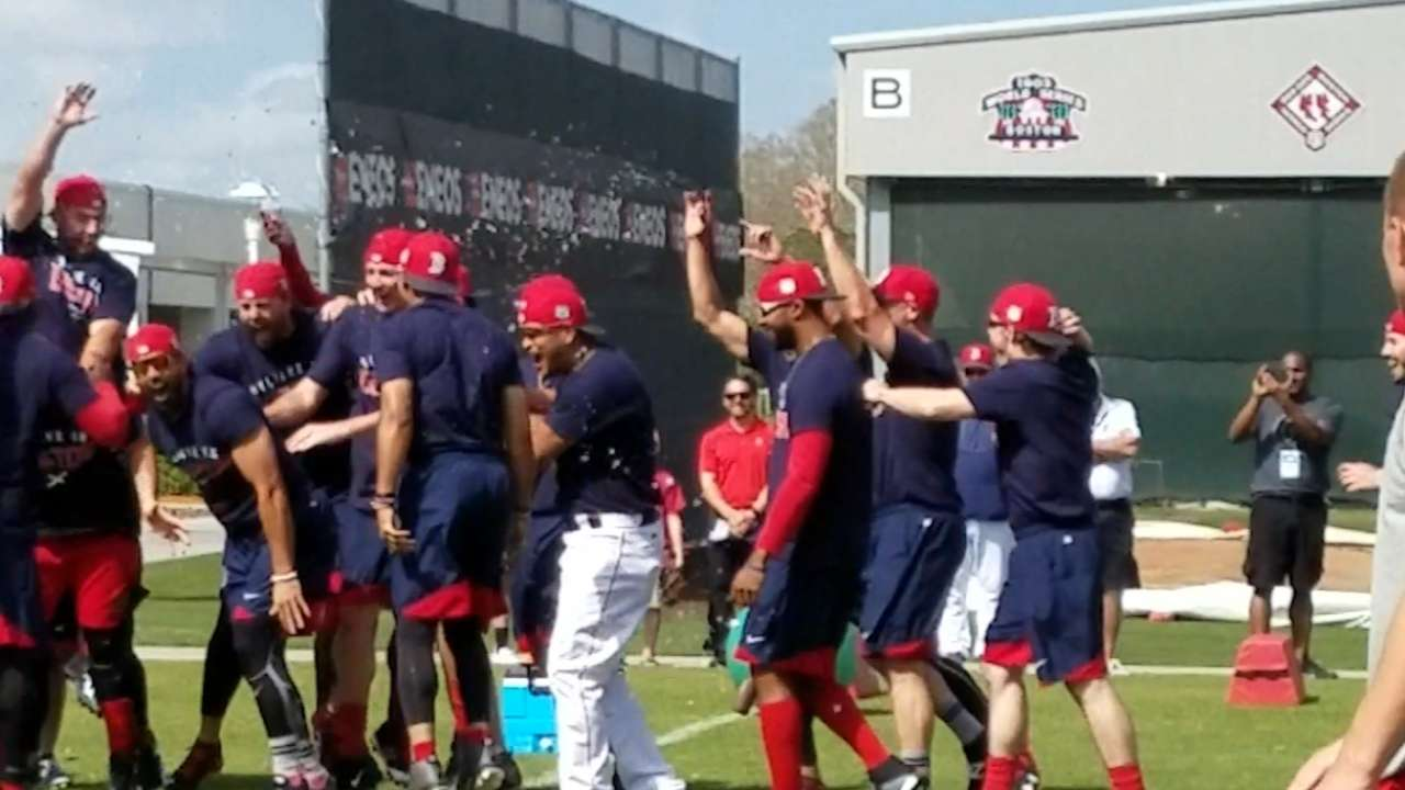 Red Sox hold friendly team skills competition
