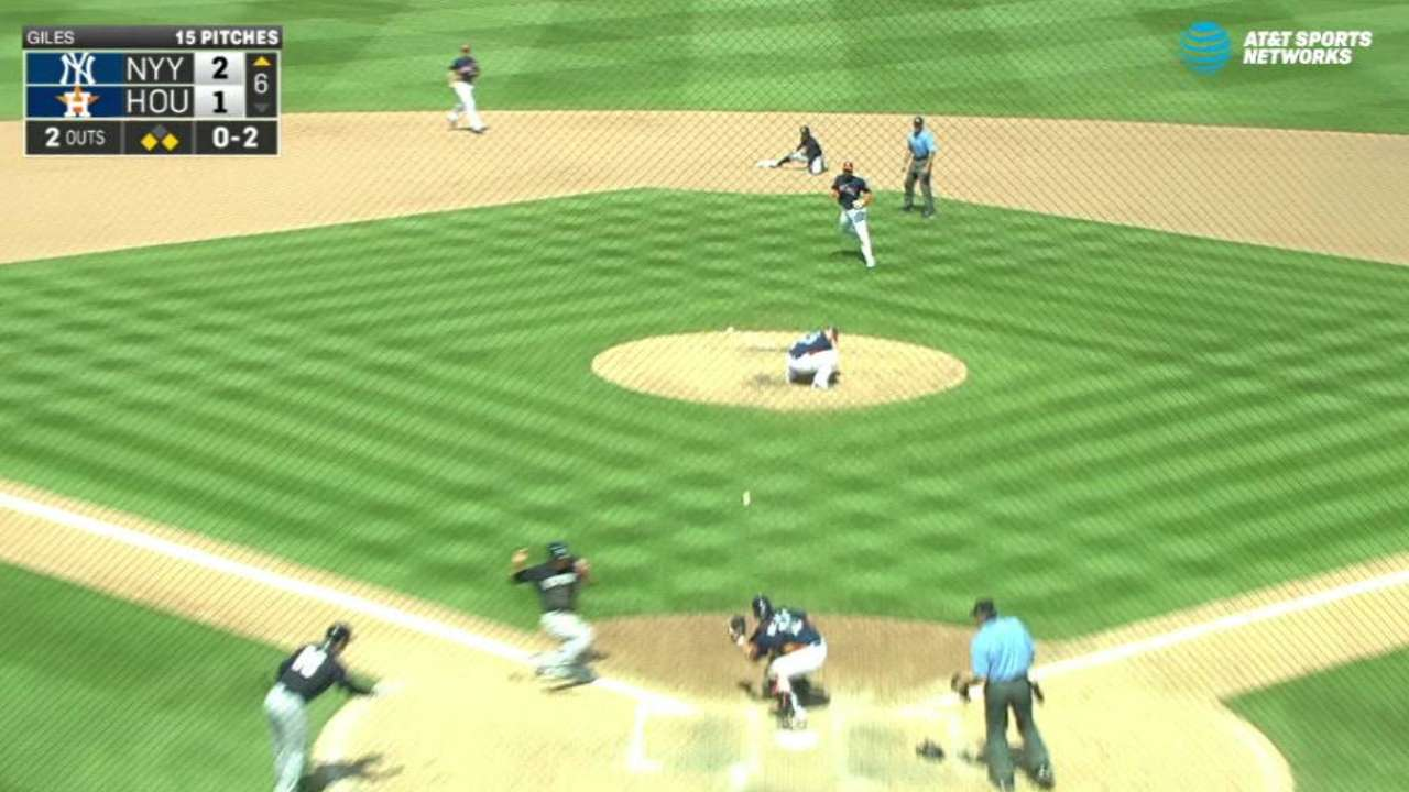 Headley steals home in the 6th