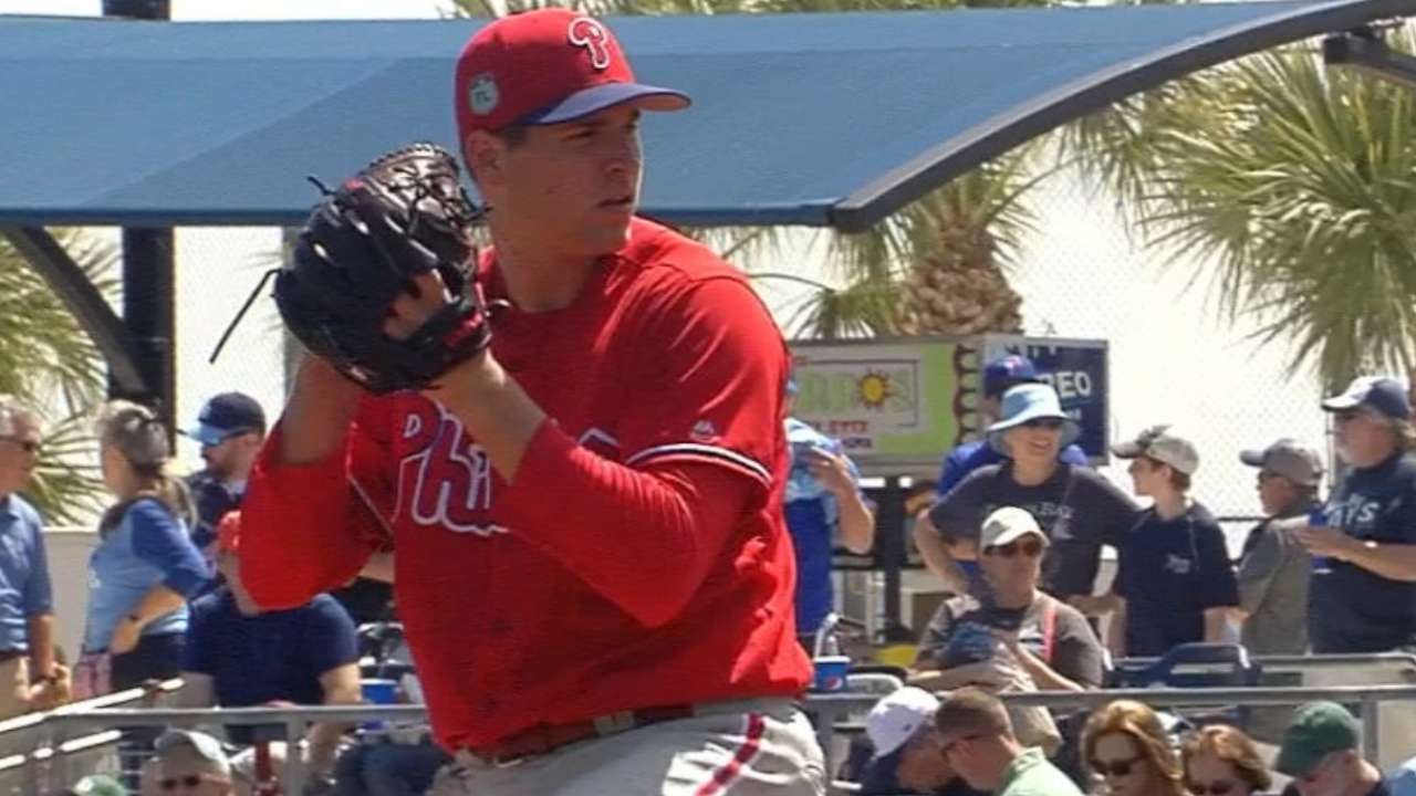 Eickhoff on target, strikes out 9 vs. Rays