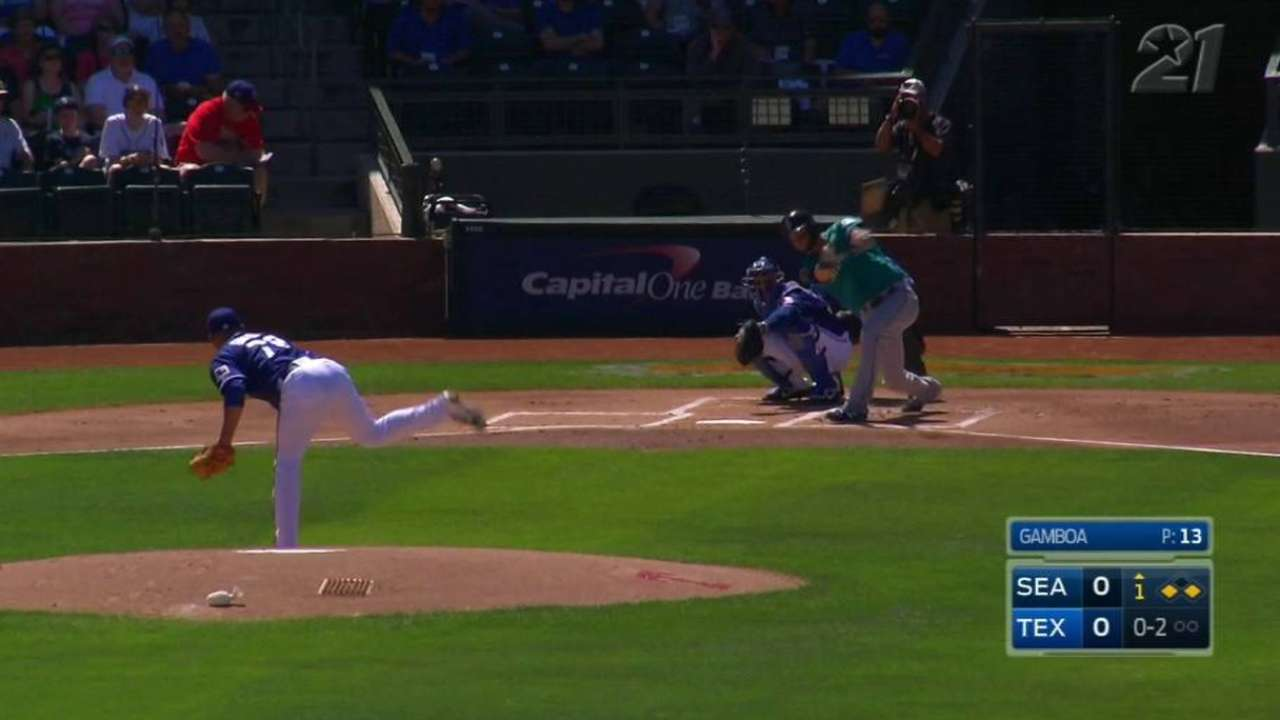 Haniger's RBI double supports Overton's solid start