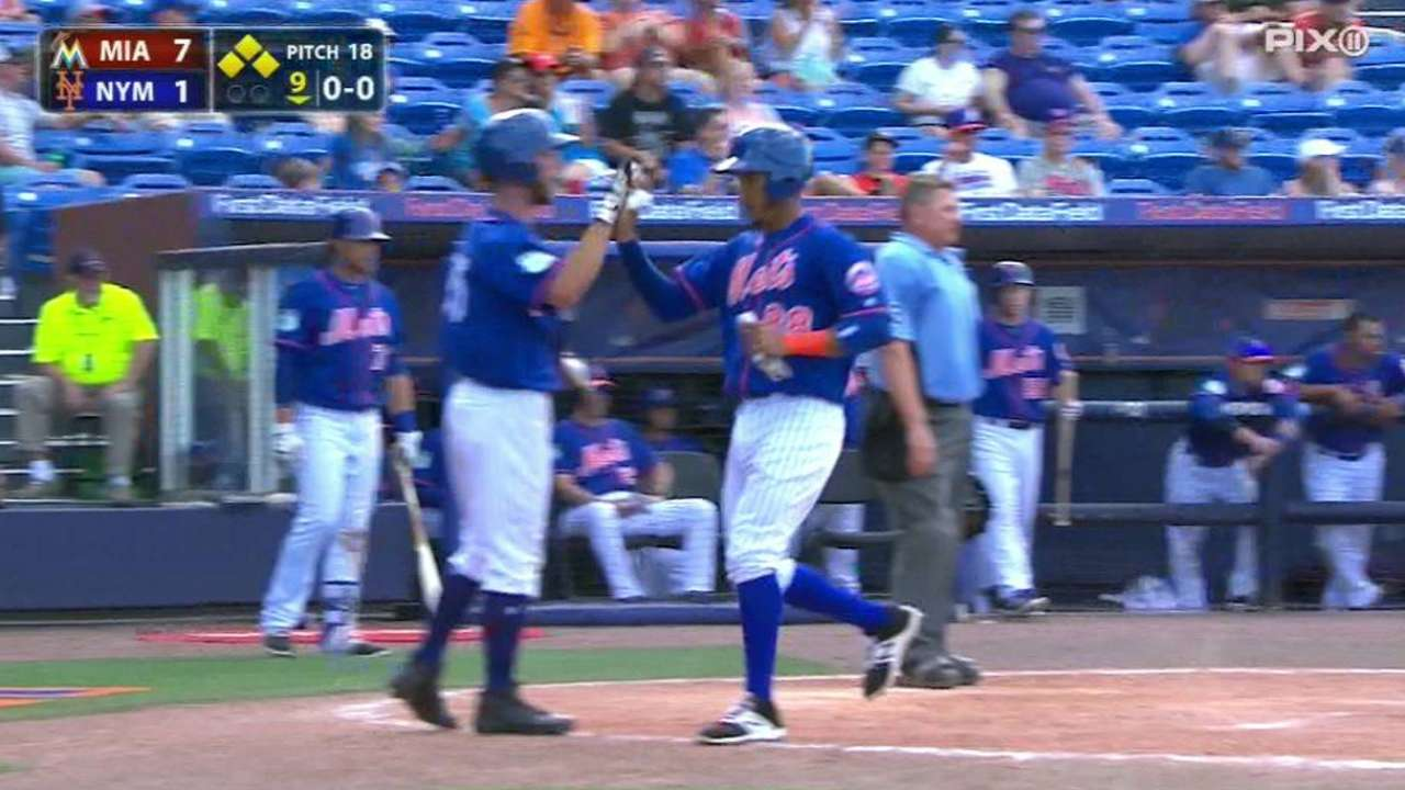 Asdrubal has 2 hits, Mets show late fight vs. Marlins