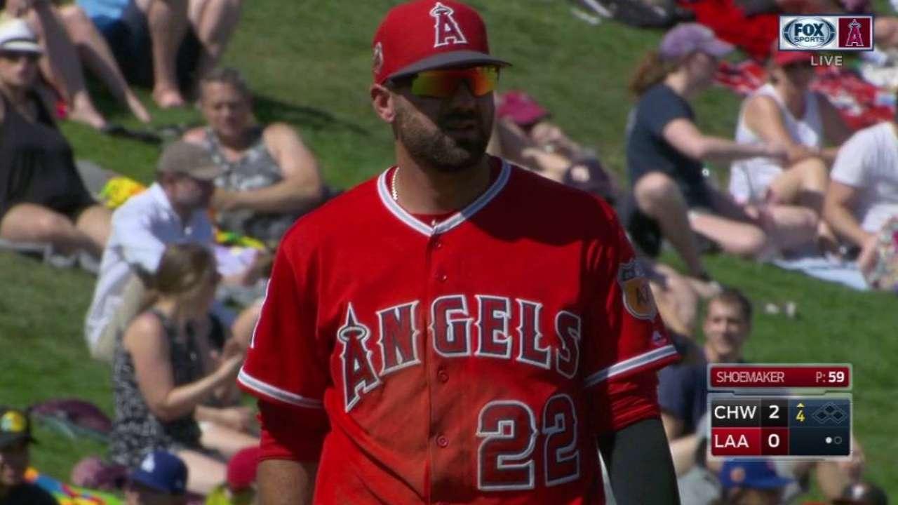 Shoemaker sparkles, but bats quiet vs. Sox