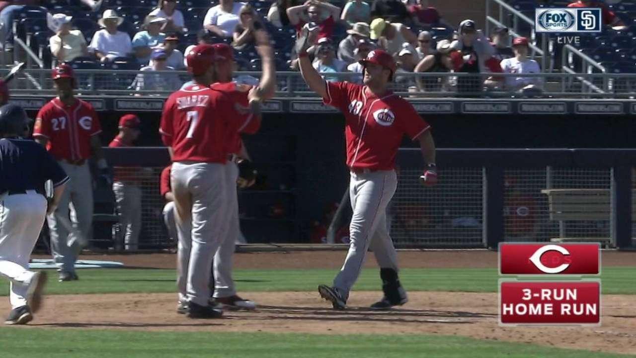 Garrett solid, as Schebler hits one of 3 Reds HRs