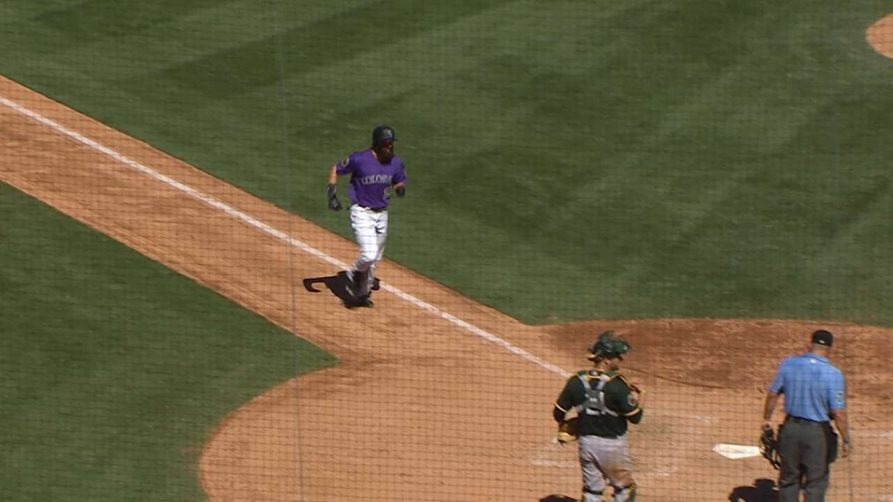 Blackmon's solo home run