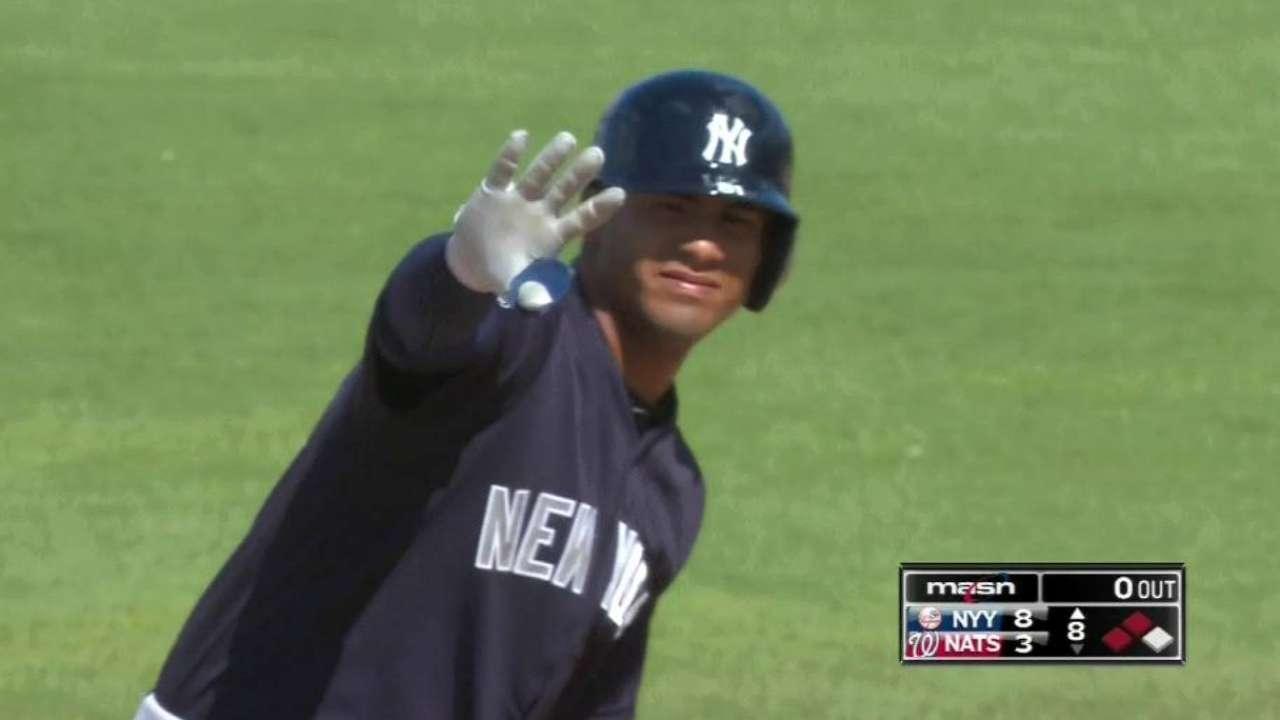 Torres reconocido como mejor novato en los entrenamientos de Yankees