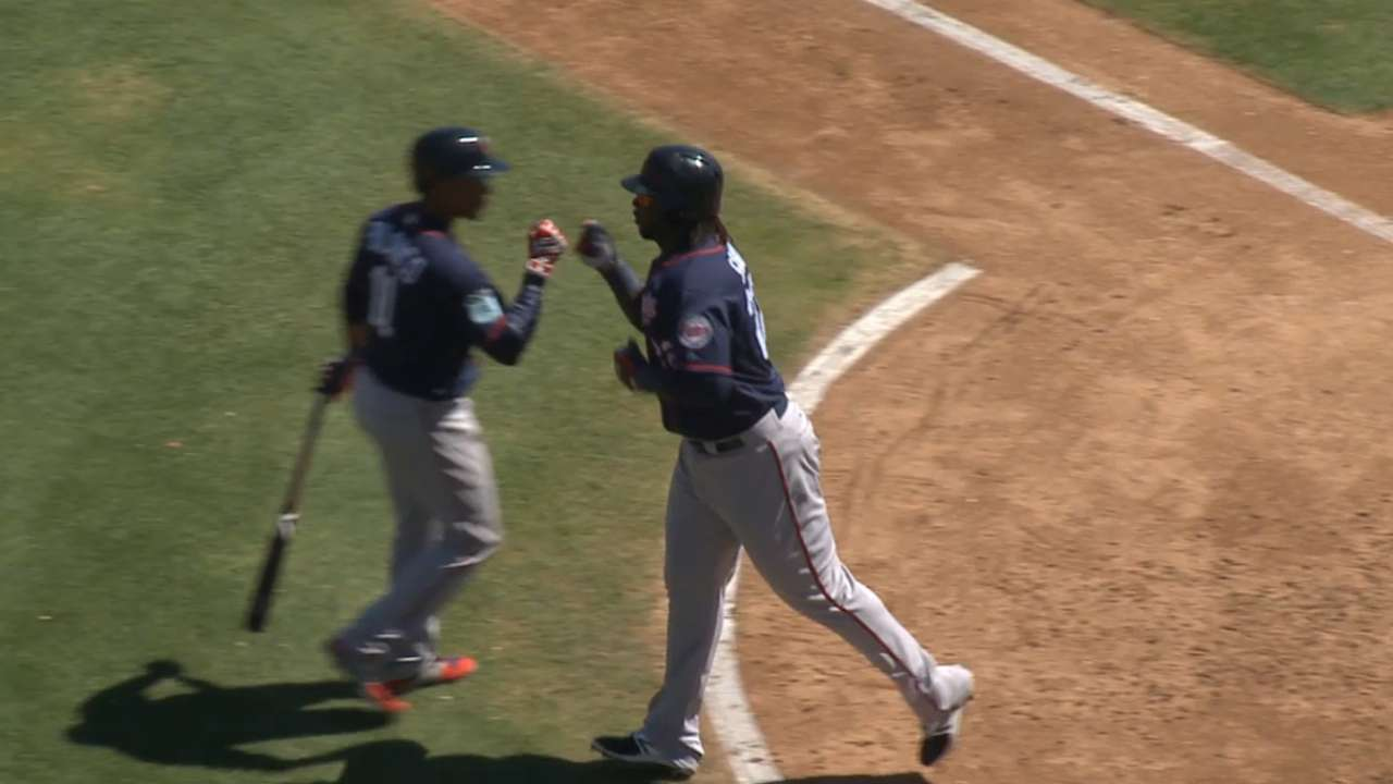 Sano's solo home run