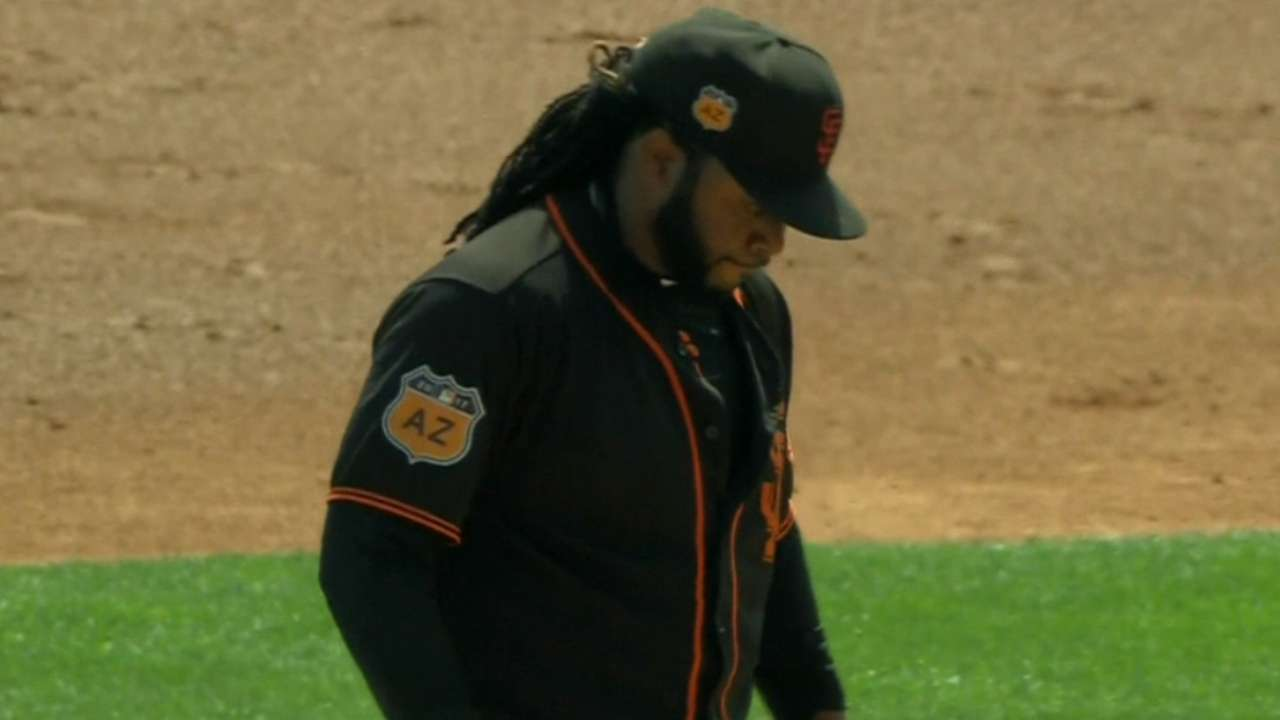Cueto K's three in one-hit start