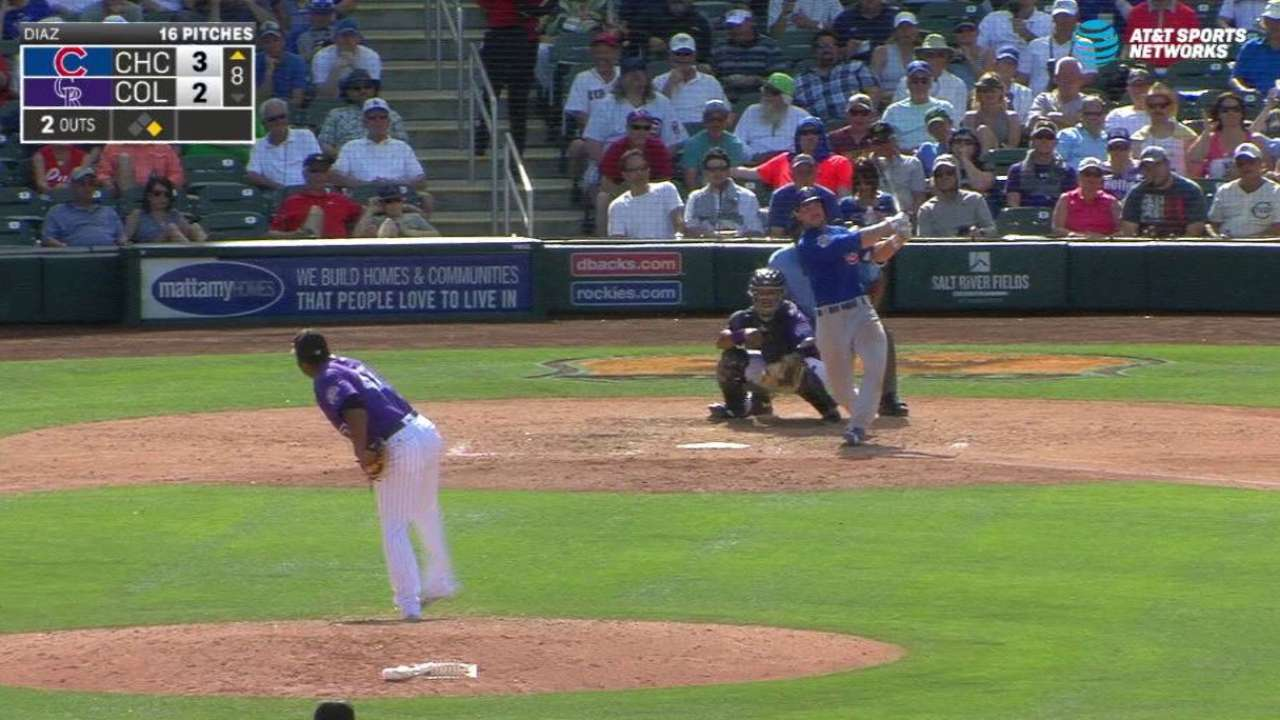 Szczur, Cubs post big eighth, as do Rockies