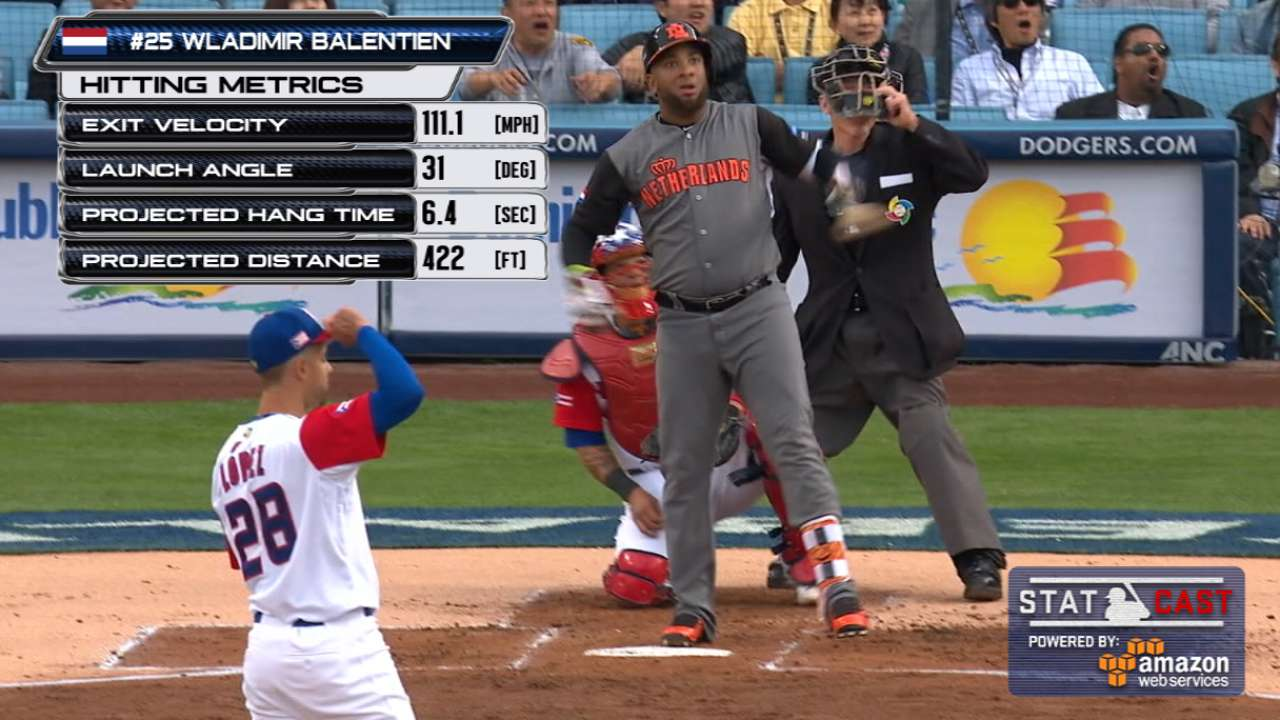 Balentien punctuates HR with epic bat flip