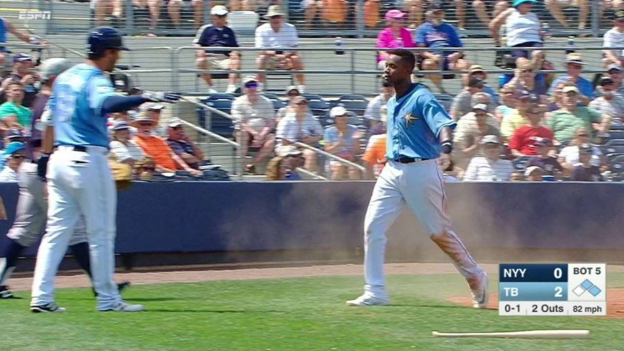 Bauers' two-run double