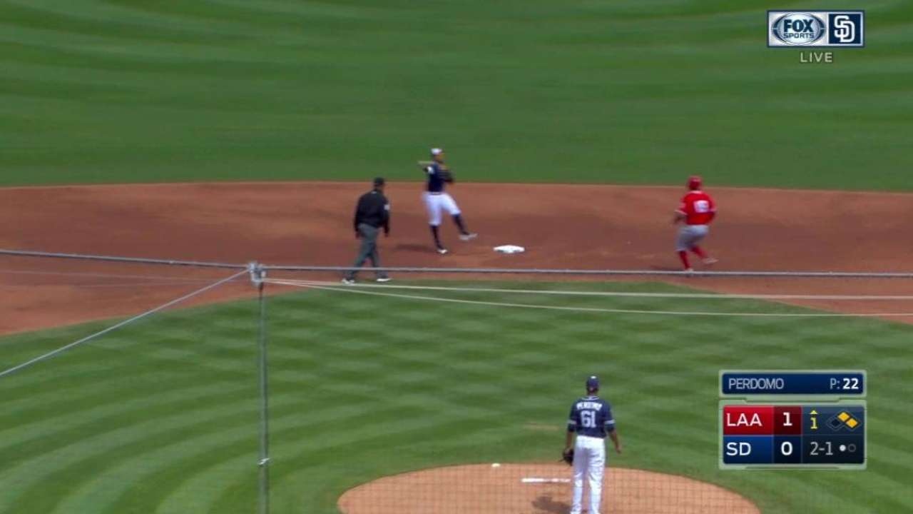 Padres infield turns two