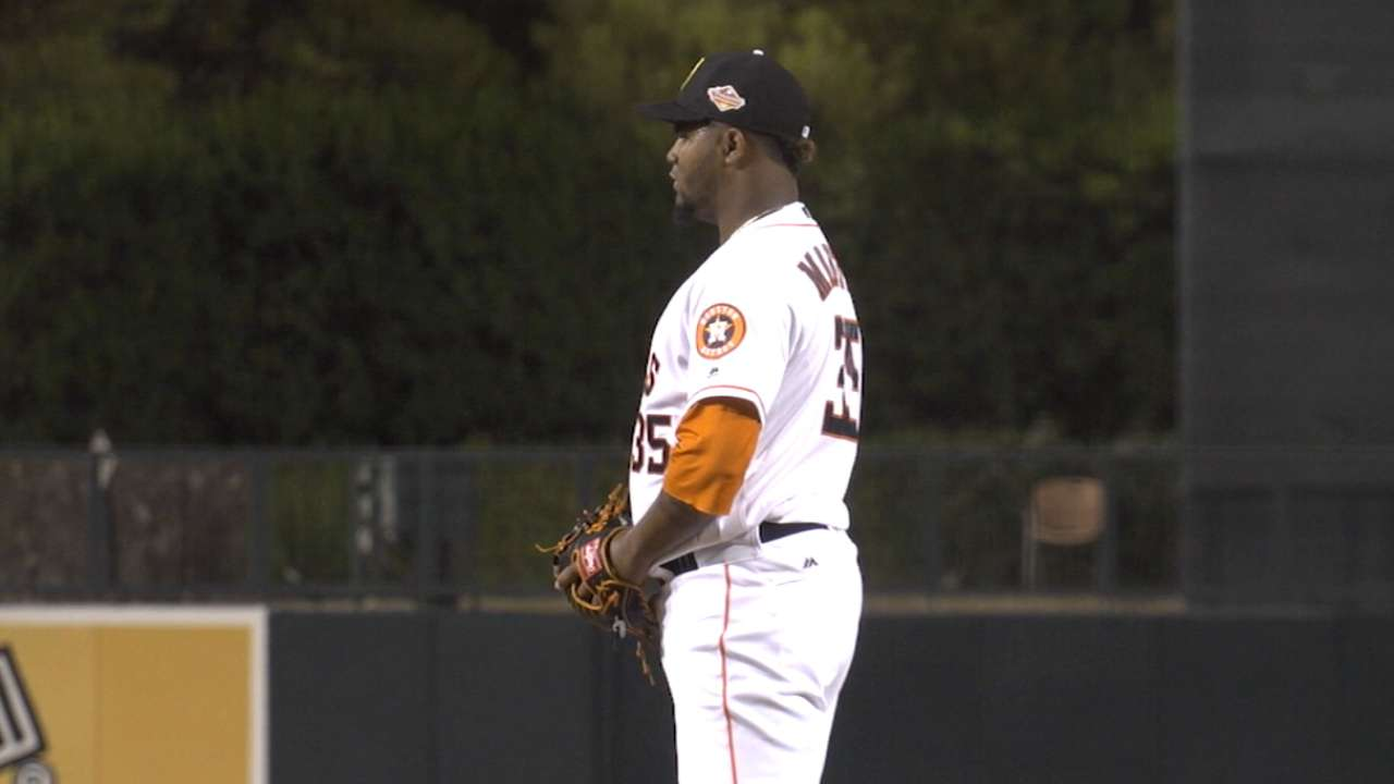 Martes' role with the Astros