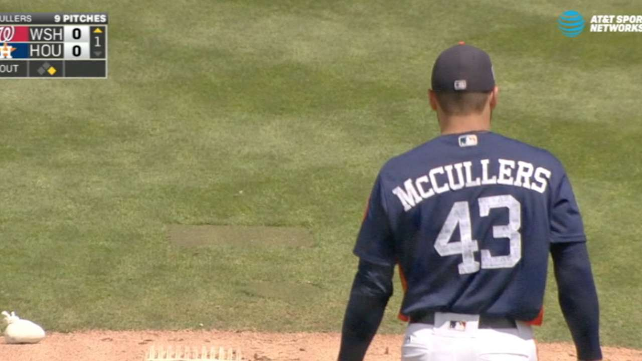 McCullers fans four