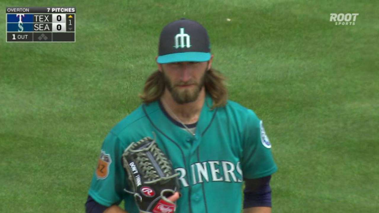 Overton fires six, Motter homers in Seattle win