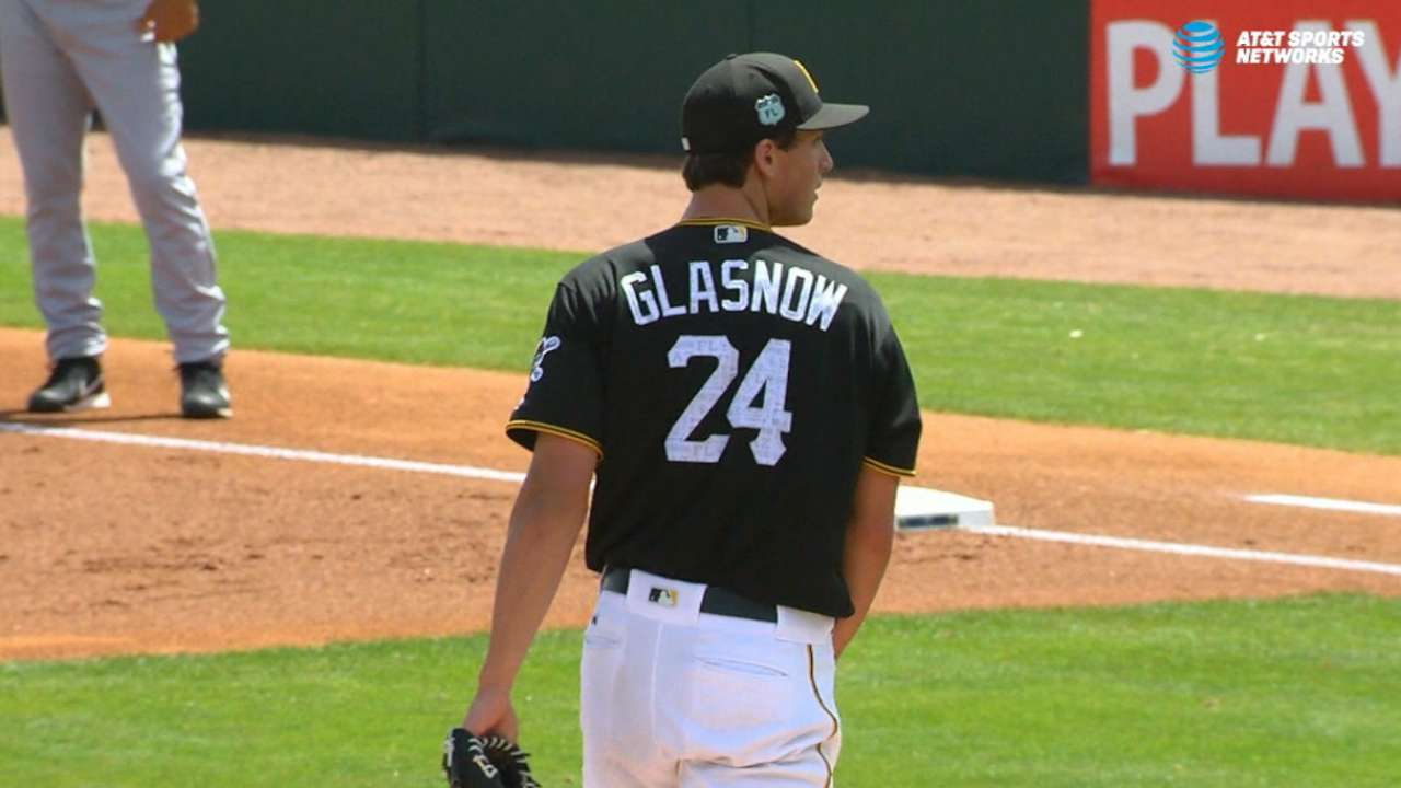 Glasnow strikes out nine