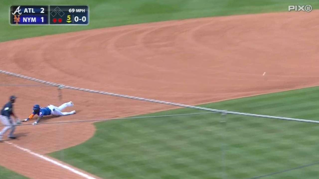 Mets se imponen a Bravos detras de Reyes y Harvey