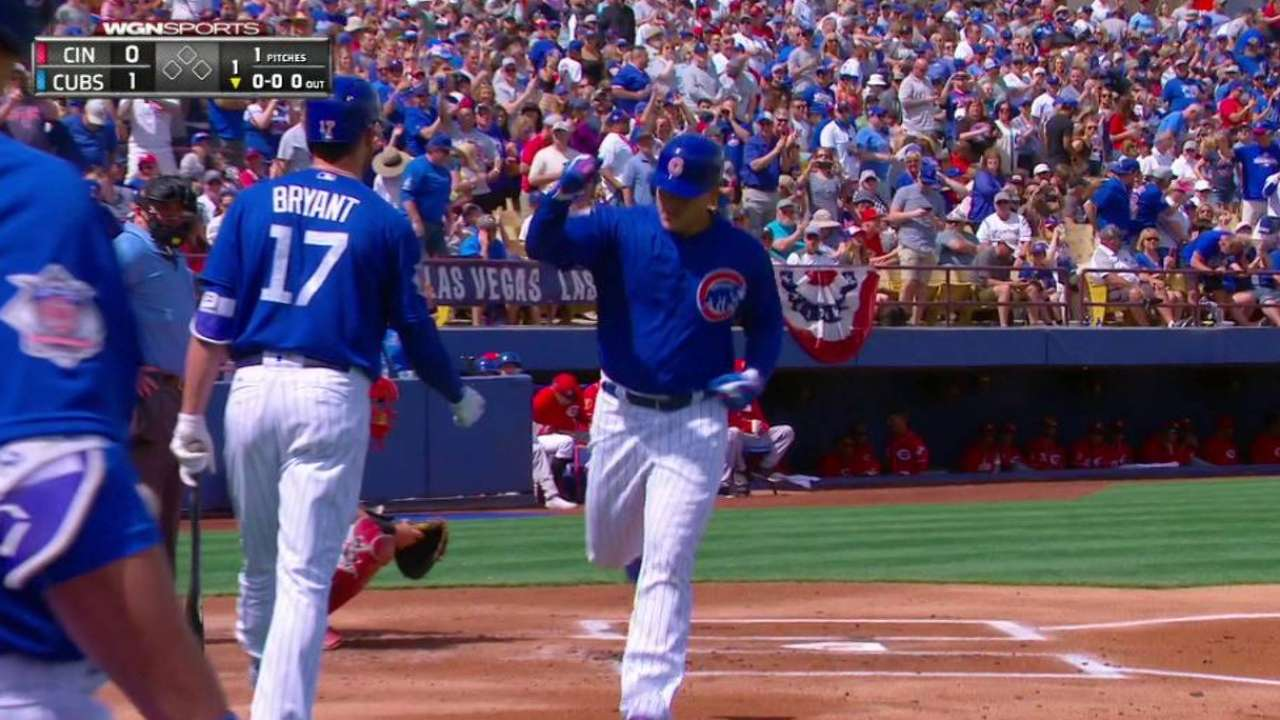 Rizzo's monster solo home run