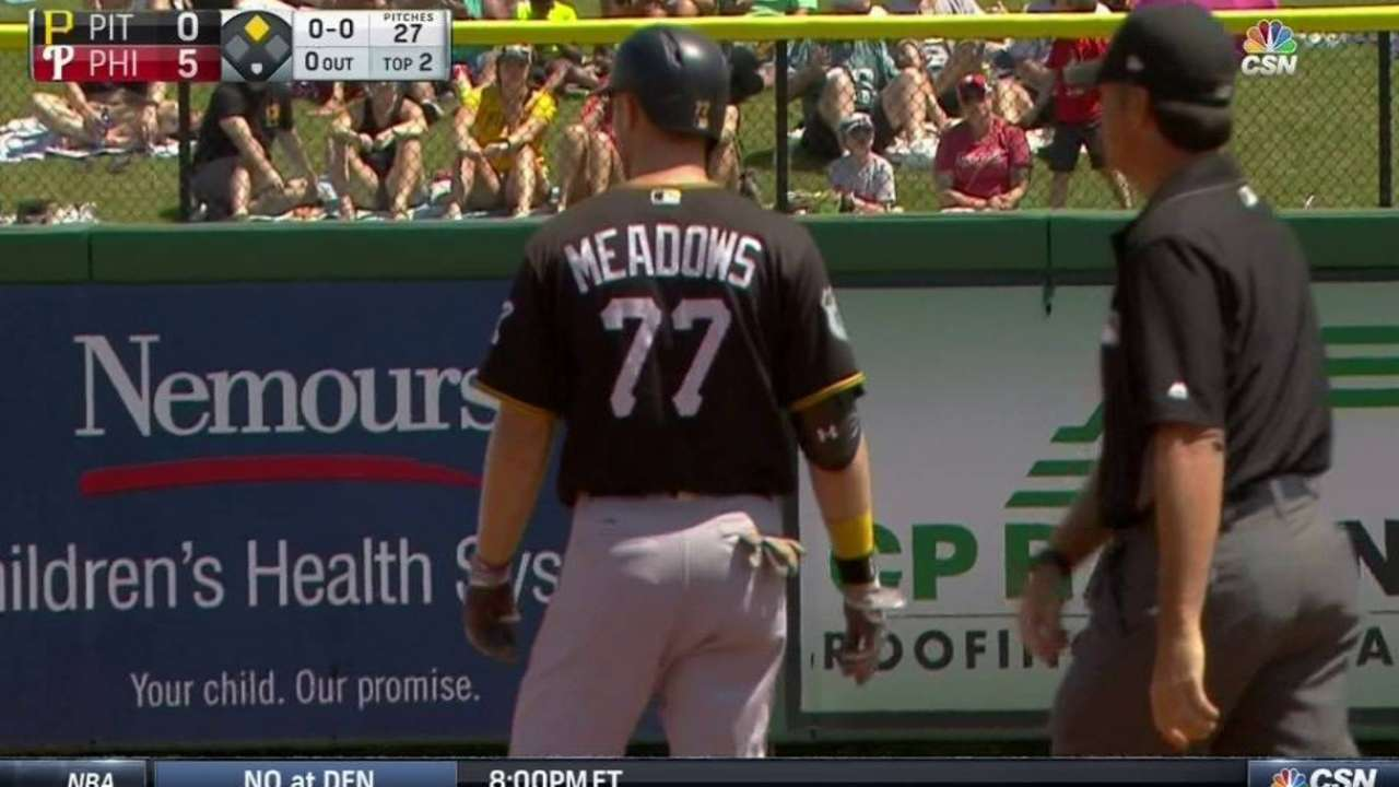 Meadows' ground-rule double
