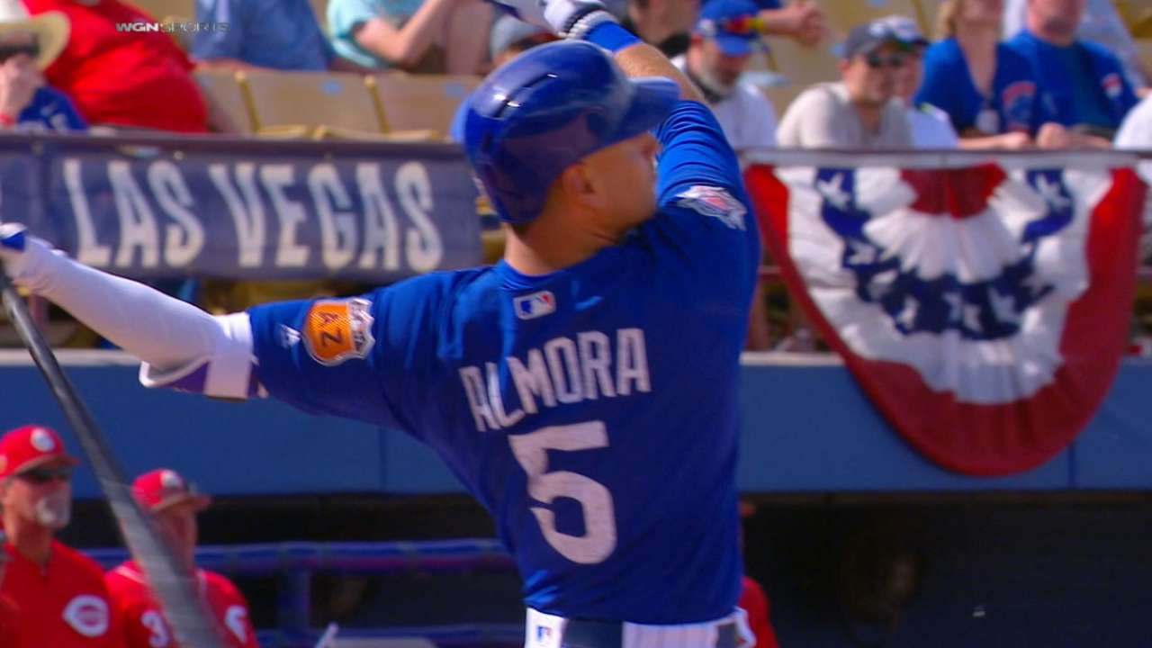 Almora Jr.'s two homers, double