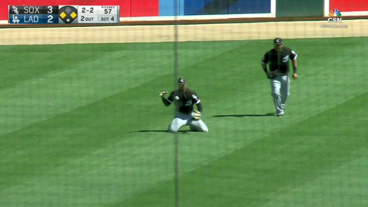 May makes clutch diving catch