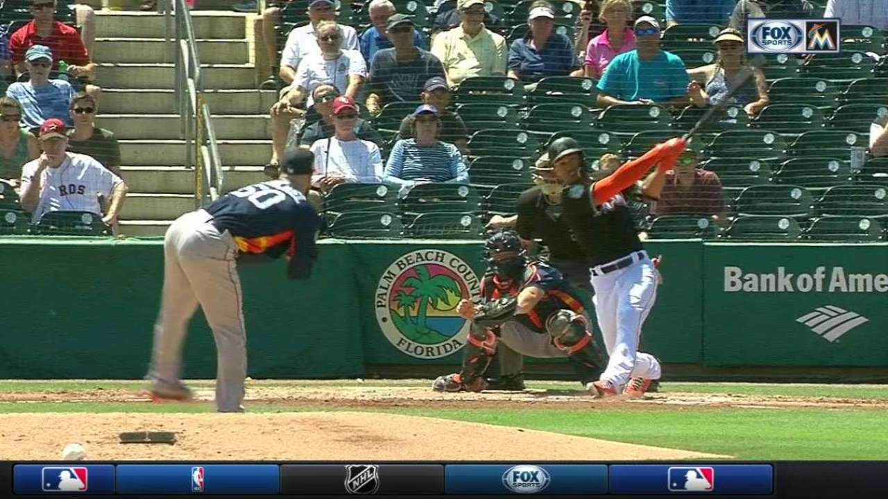 Stanton's laser-shot home run