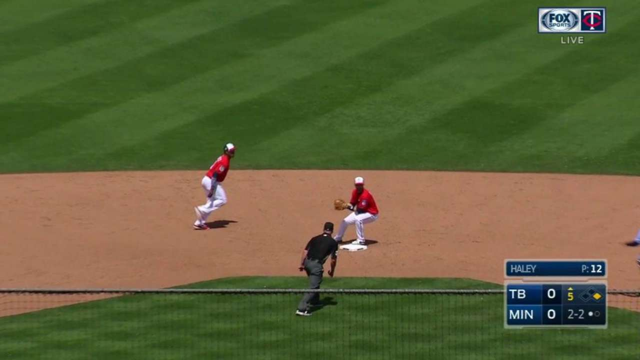 Haley induces double play