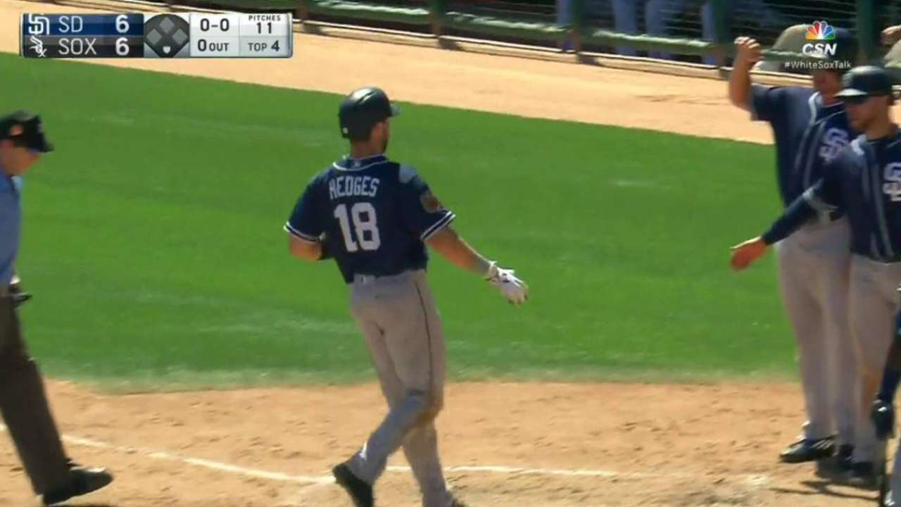 Hedges' second homer of the game