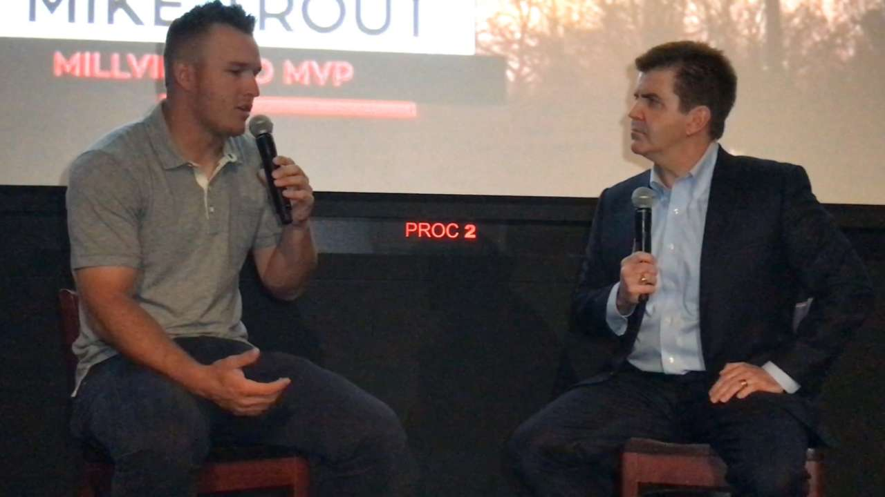 Mike Trout on his hometown