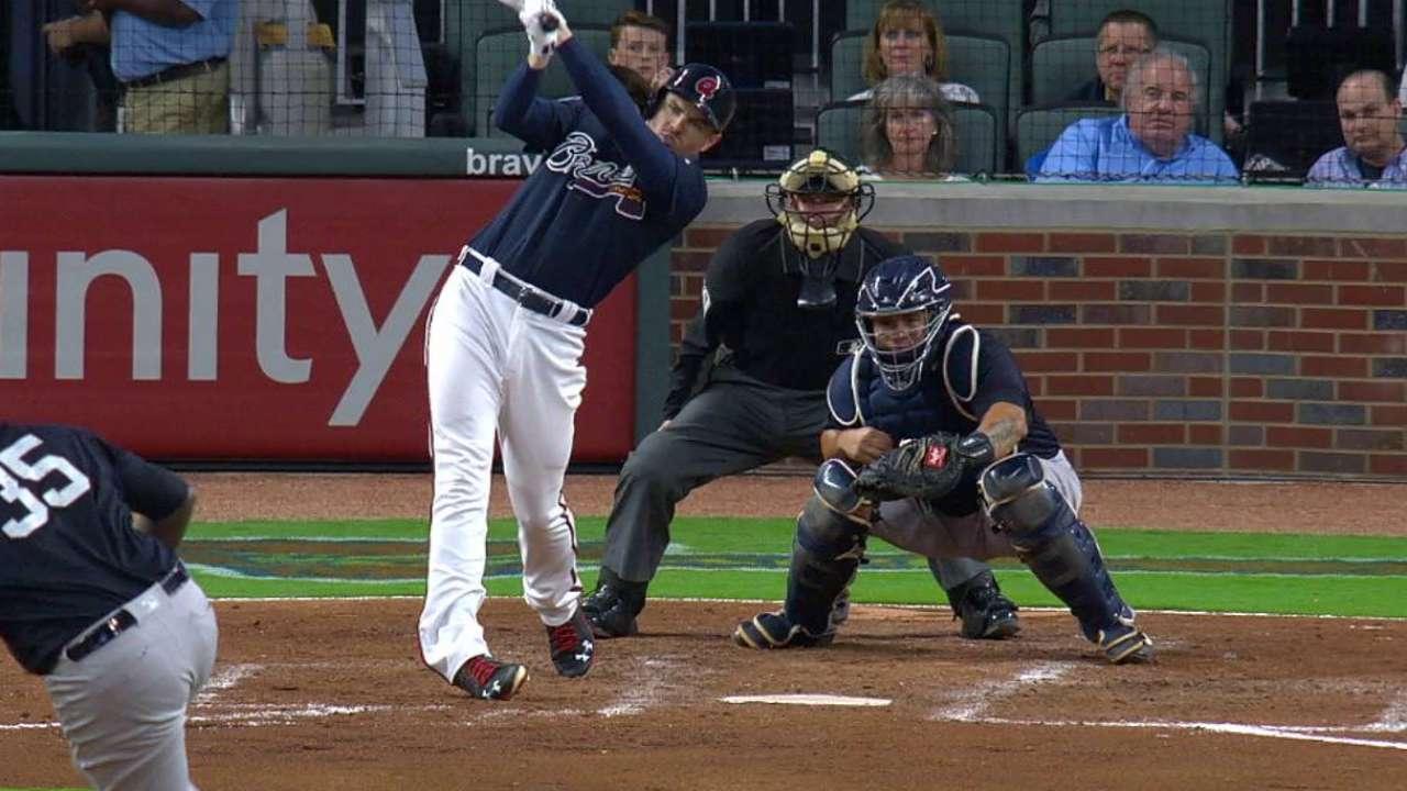 Freeman breaks in new ballpark