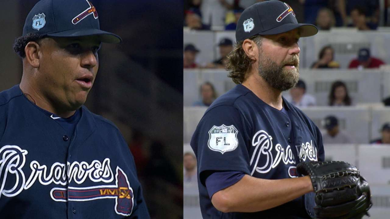 Colon, Dickey pitch for Braves